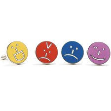 Emoticon Cufflinks (Set of 4)