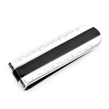 Stainless Steel Resin Money Clip in Black