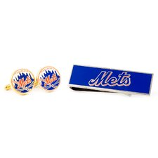 MLB Cufflinks and Money Clip Gift Set