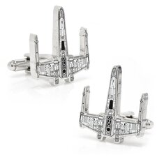 X Wing Fighter Ship Blueprint Cufflinks