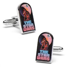 "Classic ""The Star Wars"" Episode 4 Movie Poster Cufflinks"