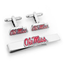 NCAA Cufflinks and Tie Bar Gift Set