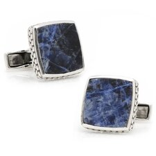 <strong>Cufflinks Inc.</strong> Sterling Silver Gemstone Scaled Cufflinks