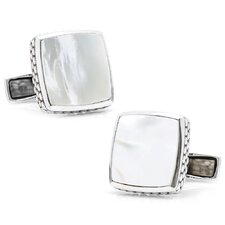 Sterling Silver Gemstone Scaled Cufflinks