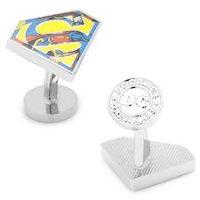 DC Comics Silver Plated Comic Print Superman Cufflinks