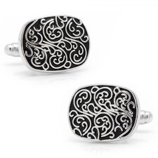Silver Plated Filigree Cufflinks