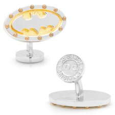 DC Comics Rhodium Plated Batman Steampunk Cufflinks