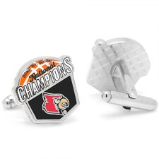 NCAA Silver Plated 2013 Louisville Cardinals National Champions Cufflinks