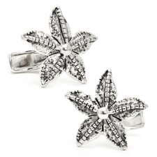 Sterling Starfish Cufflinks