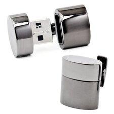 Gunmetal Oval USB Cufflinks (4GB)