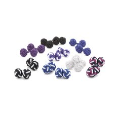 Wild Orchids Silk Knot Cufflinks (8 Pack)