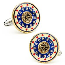 Hand Painted Portugal Coin Cufflinks