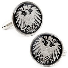 German Empire 5 Cent Coin Cufflinks