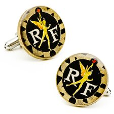 Hand Painted French Coin Cufflinks