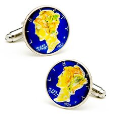 Hand Painted Liberty Dime Cufflinks