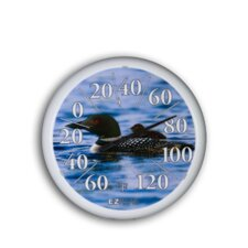 "<strong>Headwind Consumer Products</strong> 13.25"" Dial Thermometer w/ Loons"
