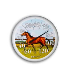 "<strong>Headwind Consumer Products</strong> 13.25"" Dial Thermometer w/ Horse"