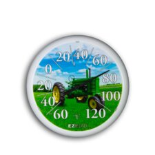 "<strong>Headwind Consumer Products</strong> 13.25"" Dial Thermometer w/ GRN Tractor"