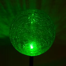 Solar Crackle Ball Garden Stake