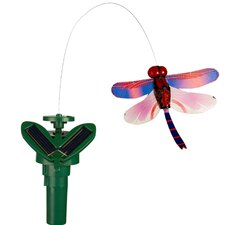 Solar Powered Fluttering Dragonfly Garden Stake