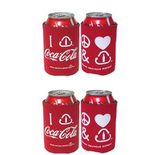 Coca Cola Can Caddy Peace Love (Set of 4)