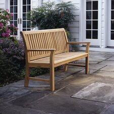 Chelsea Bate and Teak Garden Bench