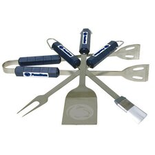 NCAA 4-Piece BBQ Grill Tool Set