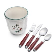 Winterberry 16 Piece Flatware Set