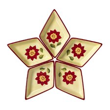 <strong>Pfaltzgraff</strong> Napoli Segmented Star Serving Tray