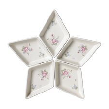 Tea Rose Segmented Serving Dish (Set of 5)