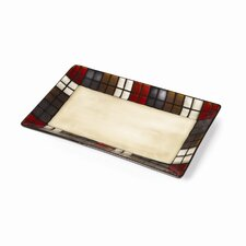 "Calico 14"" Rectangular Platter"