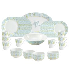 Seaside 34 Piece Dinnerware Set