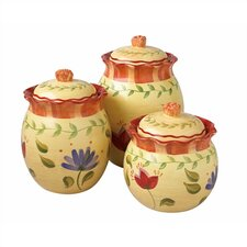 Napoli 3 Piece Canister Set (Set of 3)
