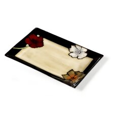 "Painted Poppies 14"" Rectangular Platter"