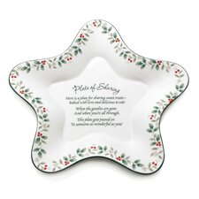 Winterberry Star Shaped Sharing Plate