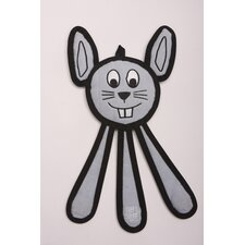 Dangles Bunny Dog Toy in Pale Blue
