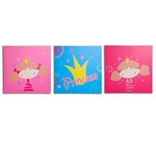 3 Piece Princess Canvas Art Set