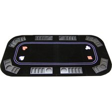 3 in 1 Poker Craps and Roulette Folding Table Top with Cup Holders