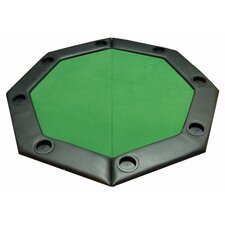 <strong>JP Commerce</strong> Padded Octagon Folding Poker Table Top with Cup Holders in Green