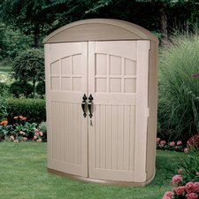 "LifeScapes 4'2"" W x 24"" D Highboy Plastic Tool Shed"