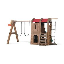 "88.5"" x 147"" Adventure Lodge Play Center Swing Set"