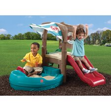 Dockside 4' Rectangular Sandbox and Climber with Cover