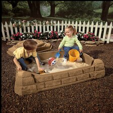 Naturally Playful 4' Rectangular Sandbox with Cover