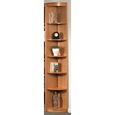 "Classic Soft Outside 84.25"" Corner Bookcase"