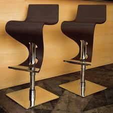 "Viva 28"" Bar Stool in Dark Brown Wood"