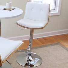 "<strong>LumiSource</strong> Lustra 27.5"" Adjustable Swivel Bar Stool"