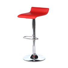 "Ale 21"" Adjustable Bar Stool with Cushion"