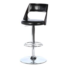 "Presta 33"" Adjustable Swivel Bar Stool with Cushion"