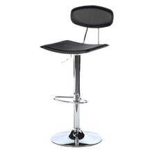 "Vector 24"" Adjustable Swivel Bar Stool with Cushion"