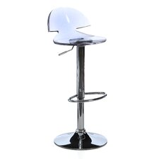 Venti Adjustable Height Clear Bar Stool